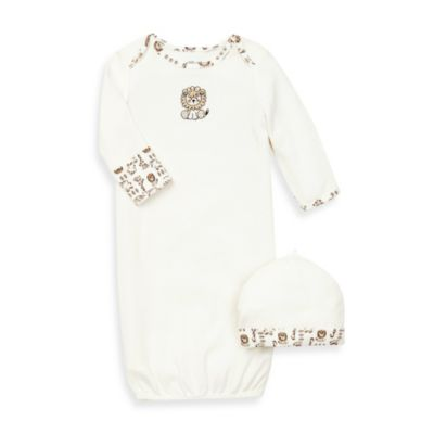 Little Me® Safari Ivory Gown with Hat