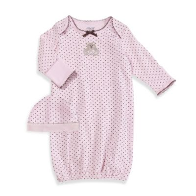 Little Me® Bear Heart Gown with Hat in Pink