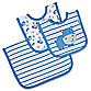 Gerber® Blue Hippo Organic Bibs & Burp Cloth Feeding Set