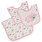 Gerber® Pink Lamb Organic Bibs & Burp Cloth Feeding Set