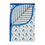Gerber® Blue Hippo Organic Reversible Receiving Blanket
