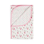 Gerber® Pink Lamb Organic Reversible Receiving Blanket