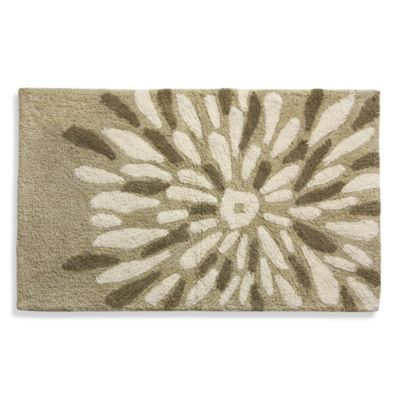 Lacey Brown Large Flower Bath Rug