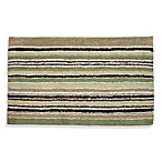 Lacey Green and Brown Bath Rug