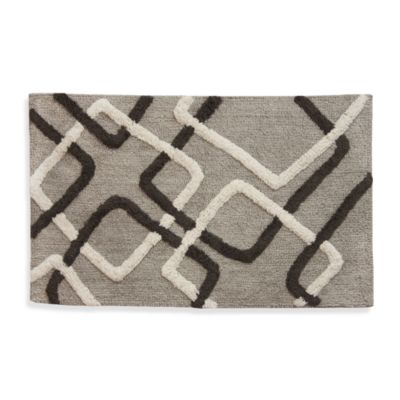 Lacey Multi-colored Geometric Shapes Bath Rug