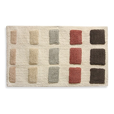Lacey Blush Geometric Shapes Bath Rug
