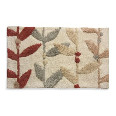 Lacey Multi-Colored Leaf Bath Rug