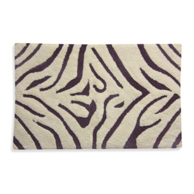 Lacey Purple Animal Skins Bath Rug