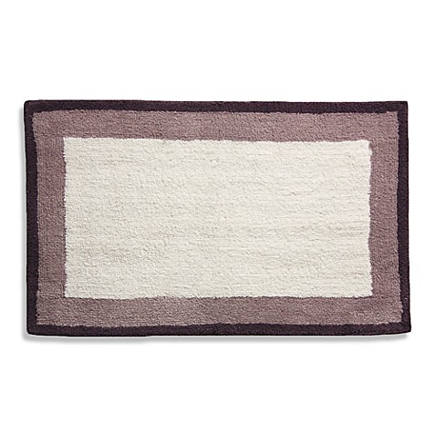 Lacey Purple Frame Bath Rug