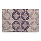 Lacey Purple Monochromatic Circle Bath Rug