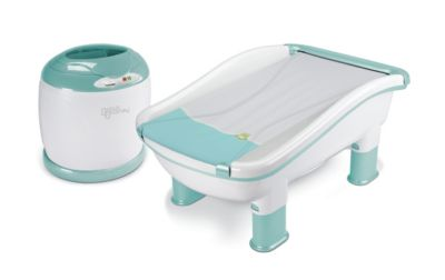 Baby's Journey™ Comfy Cozy Tub & Towel Warmer in Frog & Lily Pad