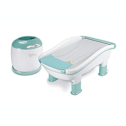 Baby's Journey Comfy Cozy Tub & Towel Warmer in Frog & Lily Pad