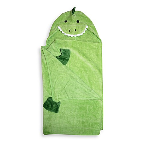 Dinosaur Green Hooded Towel