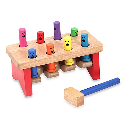 Melissa & Doug® Deluxe Pounding Bench Toddler Toy