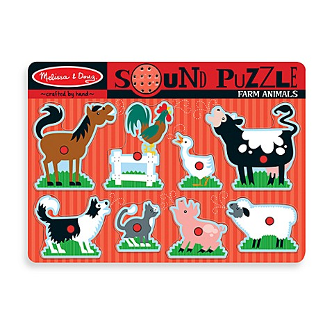 Melissa & Doug® Farm Animals Sound Puzzle