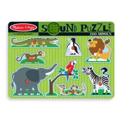 Melissa & Doug® 9-Piece Zoo Animals Sound Puzzle