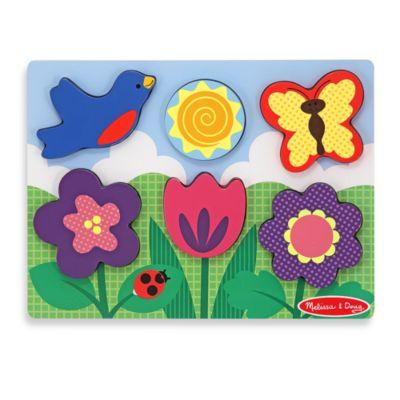 Melissa & Doug® Chunky Scene Puzzle in Flower Garden