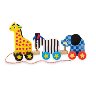 Melissa & Doug® 3-piece Pull-Along Zoo Animals