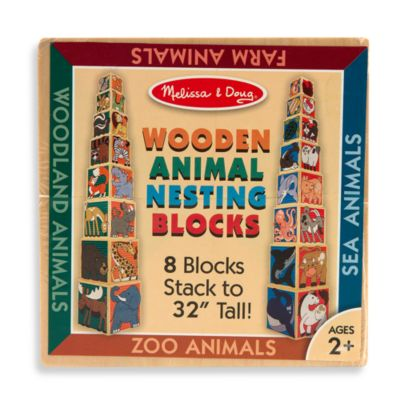 Melissa & Doug® Wooden Animal Nesting Blocks
