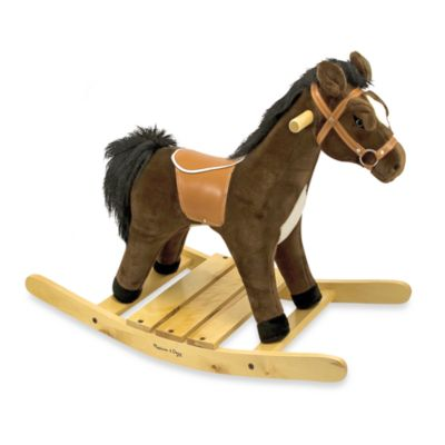 Melissa & Doug® Rock and Trot Plush Ride-On Rocking Horse