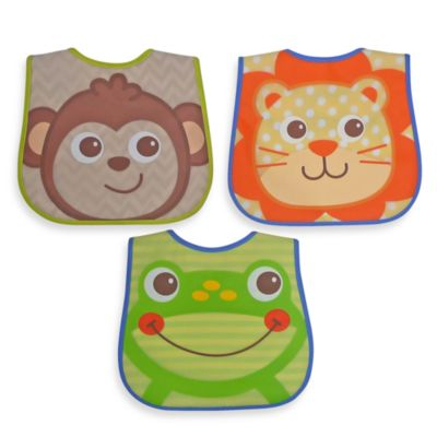 Hamco® Character Face Bib Set in Boy