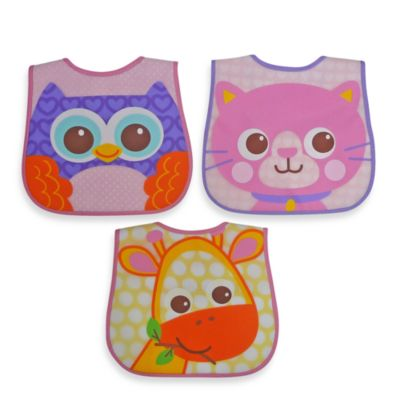 Hamco® Character Face Bib Set in Girl