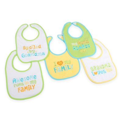Hamco Grandma/Family Attitude Sayings 5-Pack Bib Set