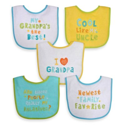 Hamco® Grandpa/Family Attitude Sayings 5-Pack Bib Set