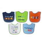 Hamco Attitude Saying 5-Pack Boys Bib Set