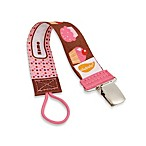 ulubulu™ Personalized Pacifier Clip in Cupcakes