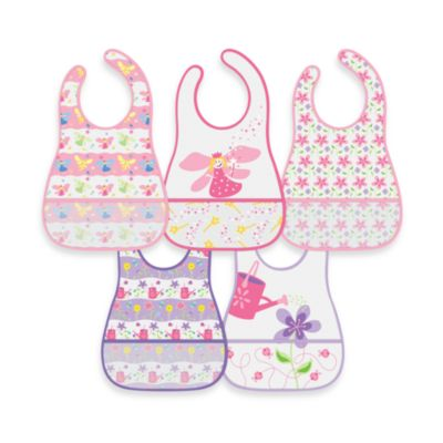green sprouts® by i play.® 5-Pack Waterproof Eva Bib in Fairy