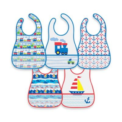 green sprouts™ by i play.® 5-Pack Waterproof Eva Bib in Train