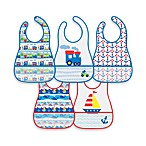 green sprouts® by i play.® 5-Pack Waterproof Eva Bib in Train