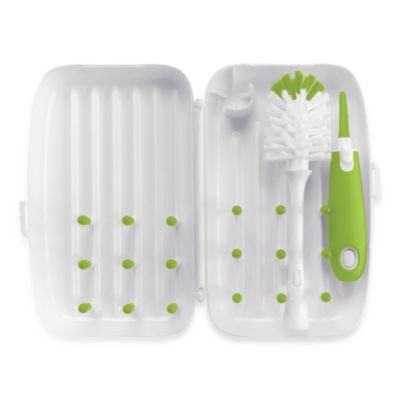 OXO Tot® On-the-Go Drying Rack with Bottle Brush in Green