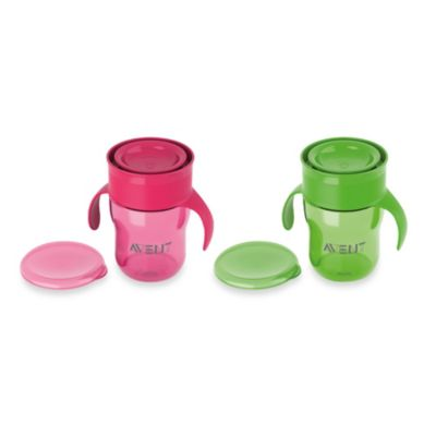 AVENT Natural Drinking Cup 9-Ounce Twin Pack in Pink/Green