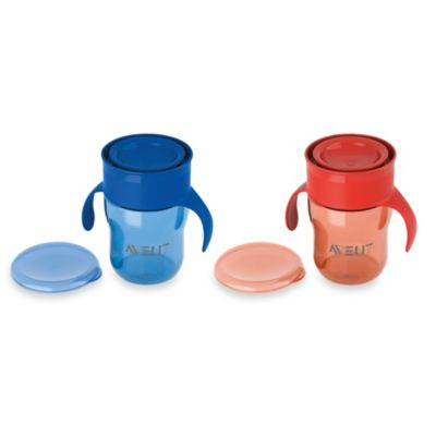 Avent Natural Drinking Cup 9-Ounce Twin Pack in Blue/Red