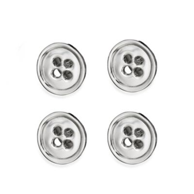 Robin Rotenier Sterling Silver Button Studs Set