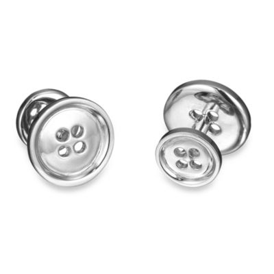 Robin Rotenier Sterling Silver Button Cufflinks