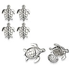 Robin Rotenier Sterling Silver Turtle Cufflinks and/or Studs