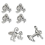 Robin Rotenier Sterling Silver Spider Monkey and Banana Cufflinks and/or Studs Sets