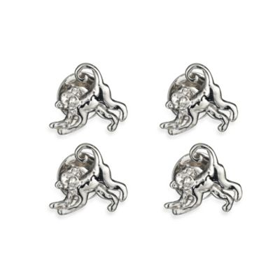 Robin Rotenier Sterling Silver Spider Monkey and Banana Studs Set