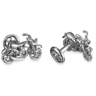 Robin Rotenier Sterling Silver Motorcycle and Wheel Cufflinks