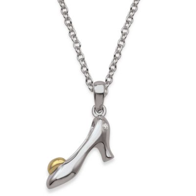 My First Diamond Sterling Silver .005 cttw Diamond High Heel Necklace