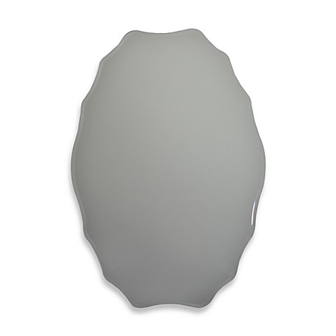 Studio Arts Frameless Oval Mirror