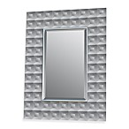 Studio Arts Glass Mid-Century Beveled Squares Mirror