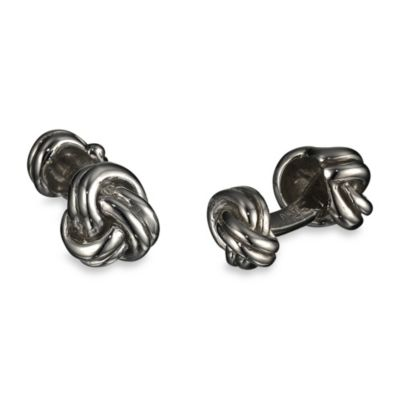 Robin Rotenier Sterling Silver Three Knot Cufflinks