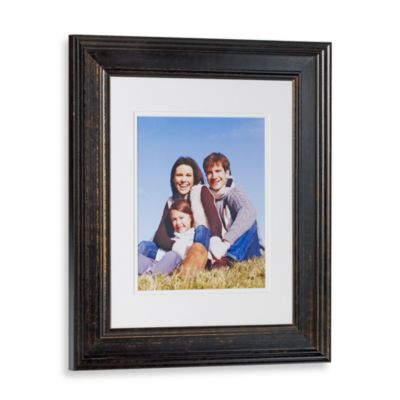 Pine Wood Weathered Black 11-Inch x 14-Inch Photo Frame