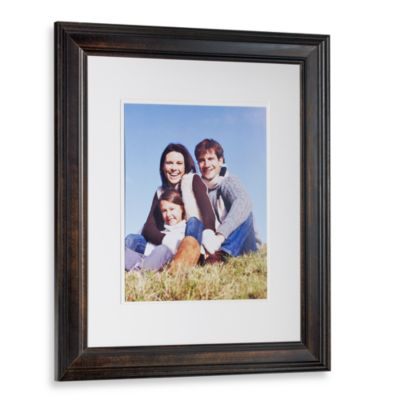 Pine Wood Weathered Black 16-Inch x 20-Inch Photo Frame