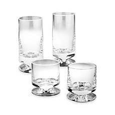 Nambe Groove Crystal Glassware - Set of 2