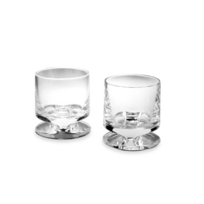Nambe Groove Crystal 8-Ounce Double Old-Fashioned (Set of 2)